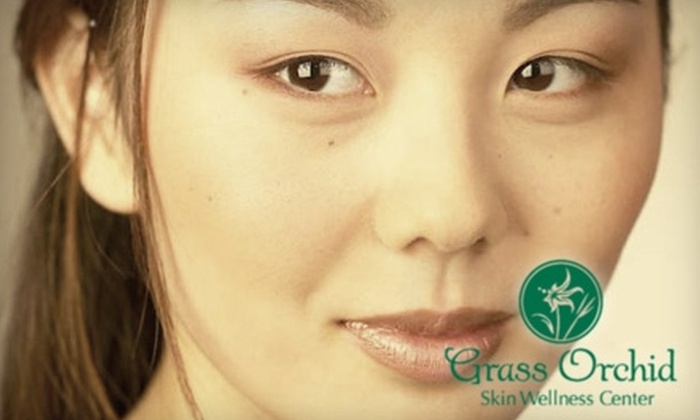 Grass Orchid Skin Wellness Center - Clive: Facials, LED Light Therapy, and 3-D Skin Analysis at Grass Orchid Skin Wellness Center. Choose between Two Options.