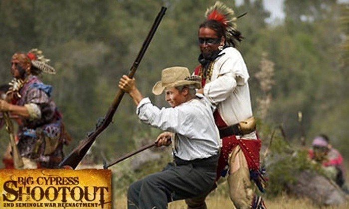 Big Cypress Shootout Second Seminole War Reenactment - Clewiston: $4 for an All-Day Admission to the Big Cypress Shootout Second Seminole War Reenactment at Billie Swamp Safari (Up to $8 Value)