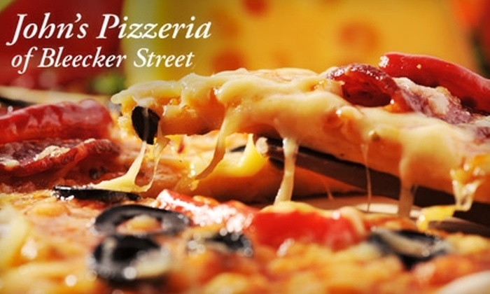 John's Pizzeria of Bleecker Street - West Village: $10 for $20 Worth of Brick-Oven Pizza and More at John's Pizzeria of Bleecker Street