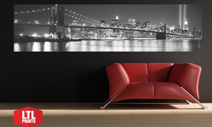 "LTL Prints: $35 for a ""Big Wall Graphic"" Panoramic Wall Mural from LTL Prints ($86 Value)"