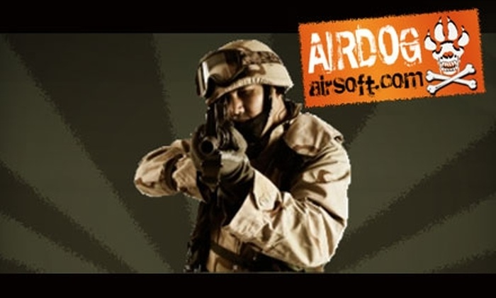 Airdog Airsoft - Multiple Locations: $25 for a One-Day Combat Play Pass at Airdog Airsoft ($50 Value)