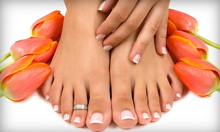 Aura Salon Spa - Birmingham: $25 for a Basic Manicure and Express Pedicure at Aura Salon Spa ($50 Value)