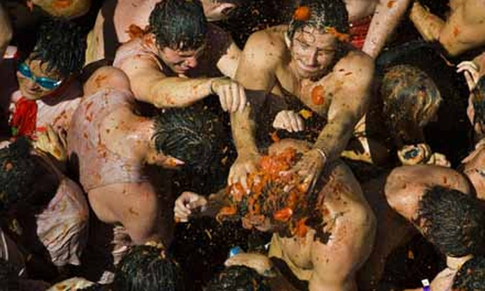 The Great Bull Run - Mont Belvieu: $20 for One Entry into Tomato Royale Food Fight on Saturday, December 7 ($40 Value)