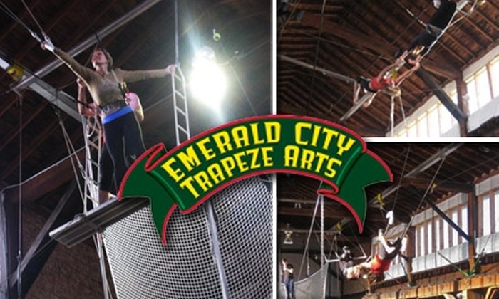 Emerald City Trapeze Arts - Industrial District East: $30 for a Two-Hour Flying Trapeze Class at Emerald City Trapeze Arts (Up to $70 Value)