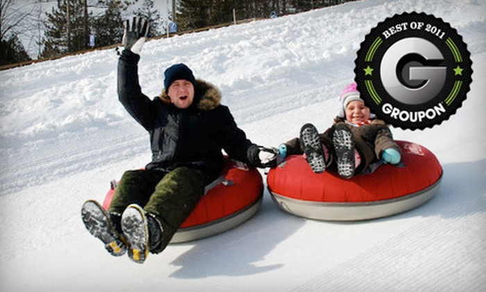 Chicopee Tube Park - Centreville Chicopee: Snow Tubing for One or Valentine's Day Tubing Outing for Two with Photo at Chicopee Tube Park (Up to 55% Off)