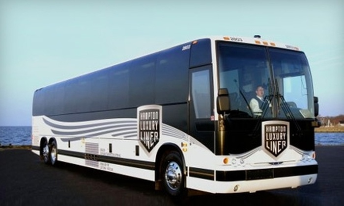 Hampton Luxury Liner - Multiple Locations: $7 for Round-Trip Travel to Atlantic City Plus a $10 Dining Voucher to Resorts Casino from Hampton Luxury Liner ($15 Value)