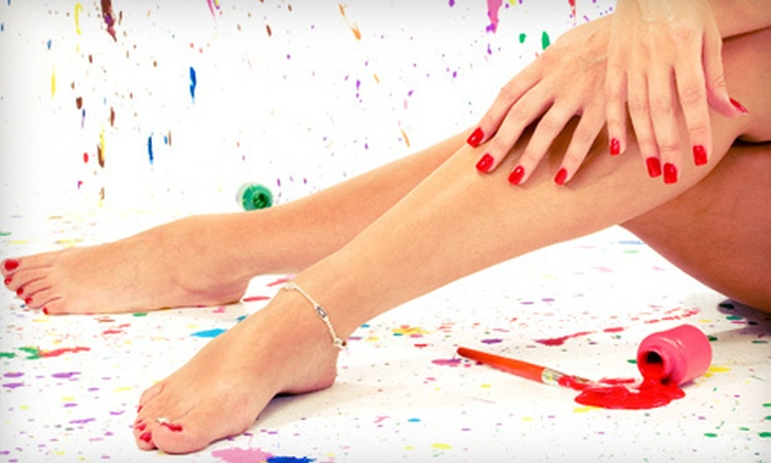 Salon Couture  - Arnold: $25 for a Shellac Manicure and a Spa Pedicure at Salon Couture in Arnold ($55 Value)