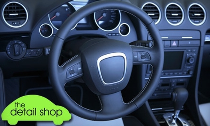 The Detail Shop - South Poplar: $49 for Two Mini Detail Packages at The Detail Shop ($99.90 Value)