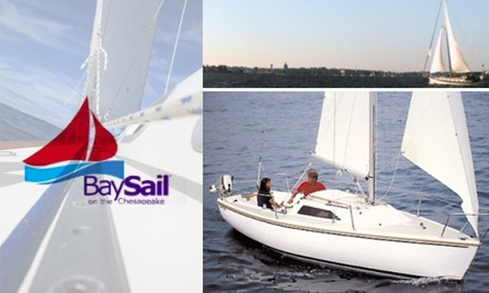 BaySail - Havre de Grace: $195 for an All-Day Weekend Sailing Lesson for Two at BaySail ($390 Value)