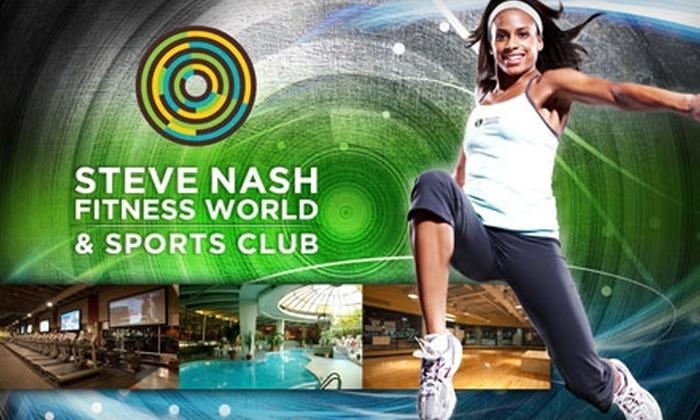 Steve Nash Fitness World - Multiple Locations: $19 for a One-Month Membership to Steve Nash Fitness World ($114 Value)