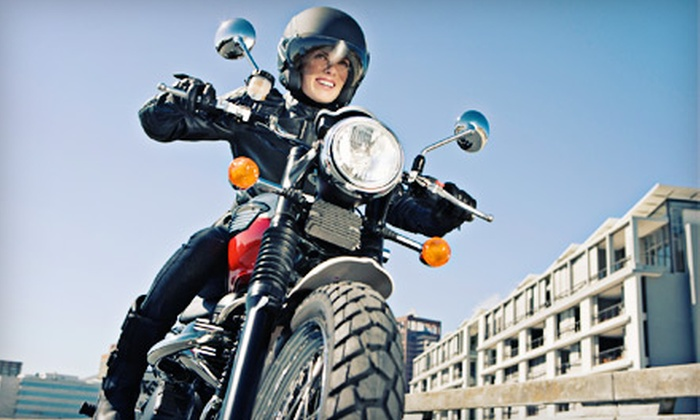 Motorcycle Safety School - Multiple Locations: Introduction to Motorcycle Experience for One or Two at Motorcycle Safety School in Stone Ridge (Up to 62% Off)