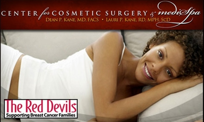 Center for Cosmetic Surgery & MediSpa - Pikesville: $99 for Three Laser Hair Removal Treatments at the Center for Cosmetic Surgery & MediSpa in Pikesville. Help The Red Devils Fight Breast Cancer.