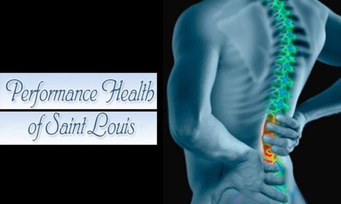 Performance Health of St. Louis - Bridgeton: $15 Exam and Chiropractic Massage at Performance Health of St. Louis ($250 Value)
