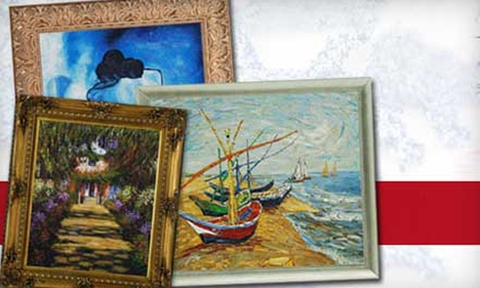 overstockArt.com: $38 for $80 Worth of Hand-Painted Art from overstockArt.com