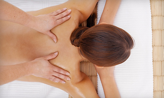 Blu Water Medi Spa Salon - Toledo: Shellac-Manicure Package or Massage Package at Blu Water Medi Spa Salon