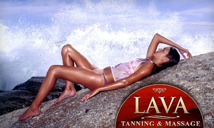 LAVA Tanning & Massage - Multiple Locations: $24 for One Month of Unlimited Tanning ($56 Value) or $49 for LED Teeth Whitening ($99 Value) at Lava Tanning & Massage