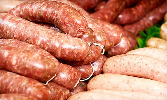 Del Fox Custom Meats - Camano Island: $12 for Three 2-Pound Meat Packages with Sausages and Ham Steaks at Del Fox Custom Meats ($24 Value)