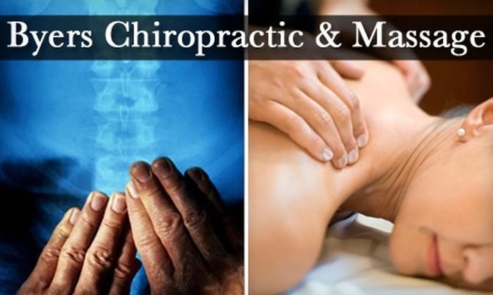 Byers Chiropractic & Massage - Kent: $29 for Deep-Tissue Massage, Chiropractic Exam, and X-Rays at Byers Chiropractic & Massage ($220 Value)