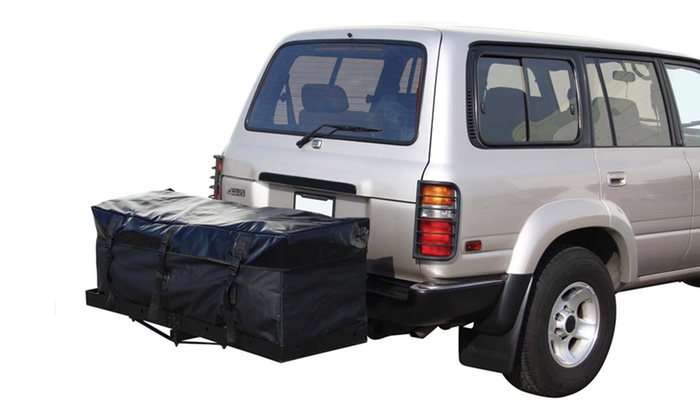 Hitch-Mounted Cargo Rack with Full-Size Cargo Bag: Hitch-Mounted Cargo Rack with Full-Size Cargo Bag. Free Returns.