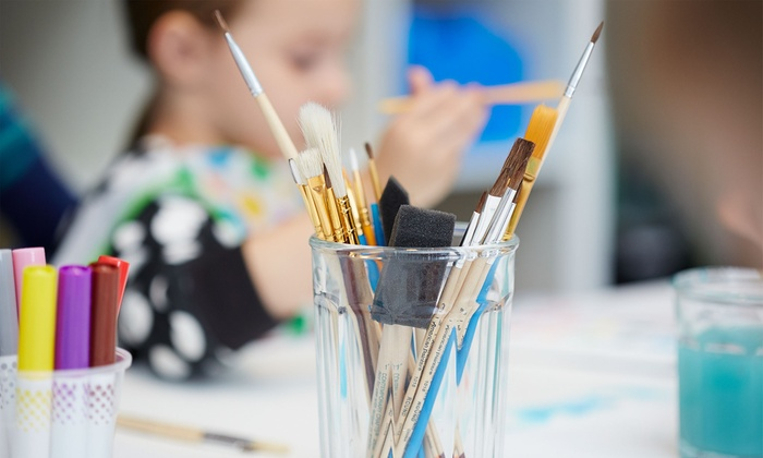 Monet Gogh Sip & Spa - Downtown Alexandria: Kids' Paint and Pizza for One or Two Kids at Monet Gogh Sip & Spa (Up to 62% Off)