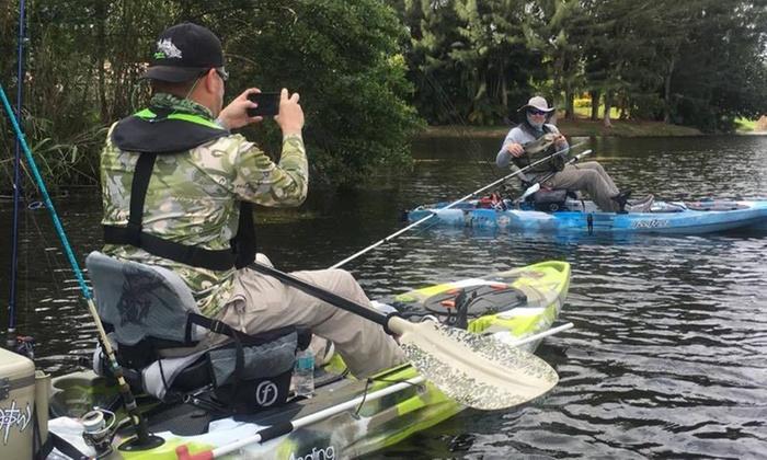 Fishing south florida kayak bass fishing groupon for Bass fishing kayak