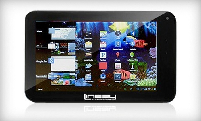 LINSAY Cosmos F-7HD Android 4.0.3 Tablet: $125 for a 7-Inch LINSAY Cosmos F-7HD Android 4.0.3 Multitouch Screen Tablet ($249.95 Value)