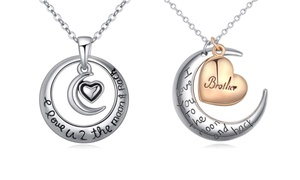 Pink Box Engraved Love Message Pendants