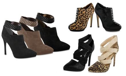 groupon daily deal - ABS by Allen Schwartz Women's Dress Booties. Multiple Styles from $69.99–$79.99.