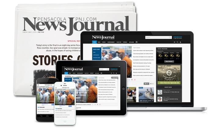Pensacola News Journal: Delivery or Digital-Only Subscription to Pensacola News Journal (Up to 76% Off). Three Options Available.
