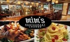 Mim's - Multiple Locations: $20 for $50 Worth of Steaks, Pastas, and More at Mim's
