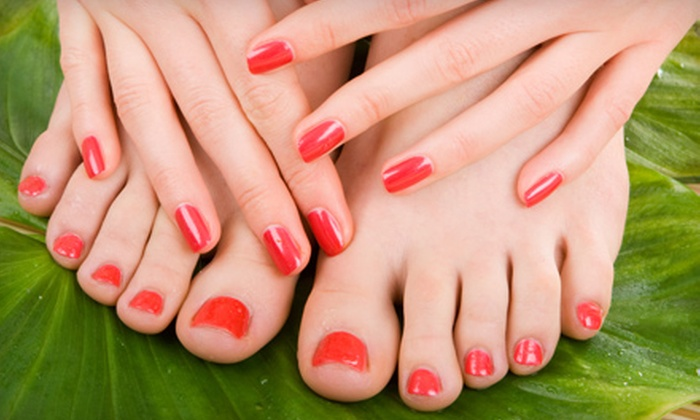 Victoria's Nails & Spa - Multiple Locations: Basic or Spa Mani-Pedi at Victoria's Nails & Spa (Up to 57% Off)