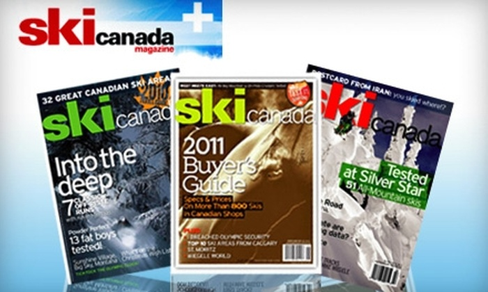 "<i>Ski Canada</i> Magazine: $12 for 10 Issues of ""Ski Canada"" Magazine ($28 Value)"