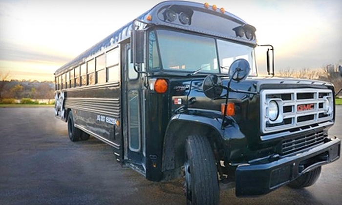 Jone-Z Party Bus - Northwest Omaha: Four-Hour Party-Bus Rental Sunday–Thursday or Friday or Saturday from Jone-Z Party Bus