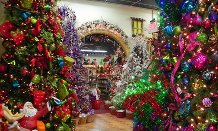 The Christmas Palace - Multiple Locations: Holiday Decorations and Accessories at The Christmas Palace (Half Off). Two Options Available.
