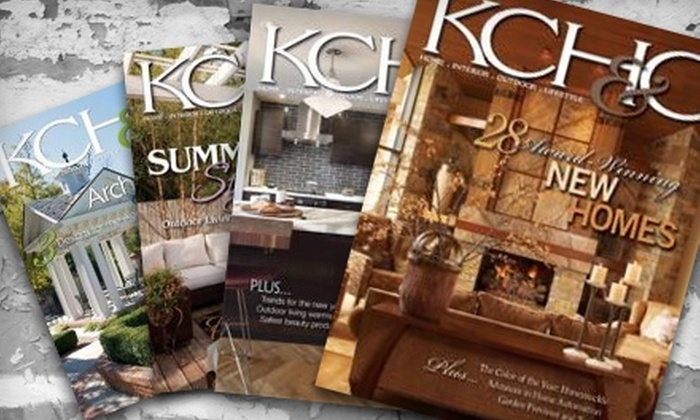 """Kansas City Homes & Gardens"": $12 for One-Year Subscription to ""Kansas City Homes & Gardens"" Magazine ($26 Value)"