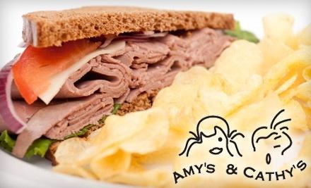 $10 Groupon to Amys & Cathys Take-Out - Amys & Cathys Take-Out in Seguin