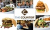 The Counter Seattle - Multiple Locations: $10 for $20 Worth of Gourmet Custom Burgers at The Counter