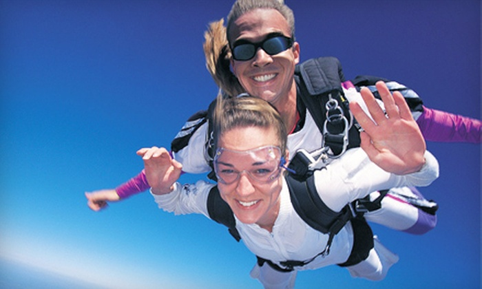 Sin City Skydiving - Clark: $149 for Tandem Skydive Adventure with Roundtrip Limo Service and a Complimentary Drink from Sin City Skydiving ($249 Value)