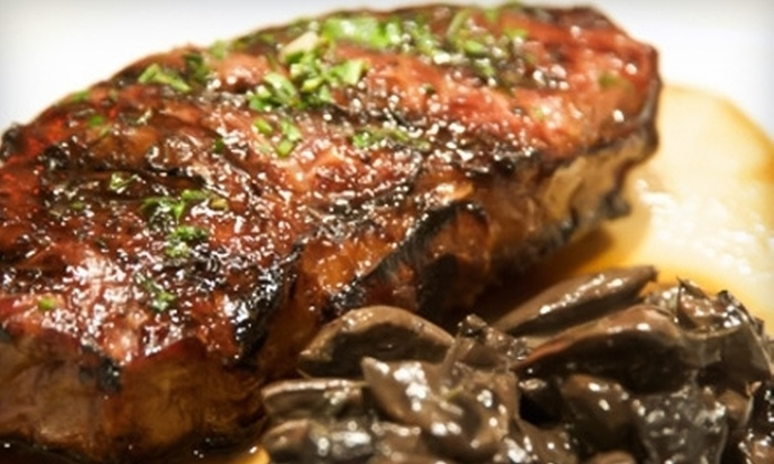 Medallion Steakhouse - Burlingame Gardens: Organic Fine Dining for Lunch or Dinner at Medallion Steakhouse (Half Off). Three Options Available.