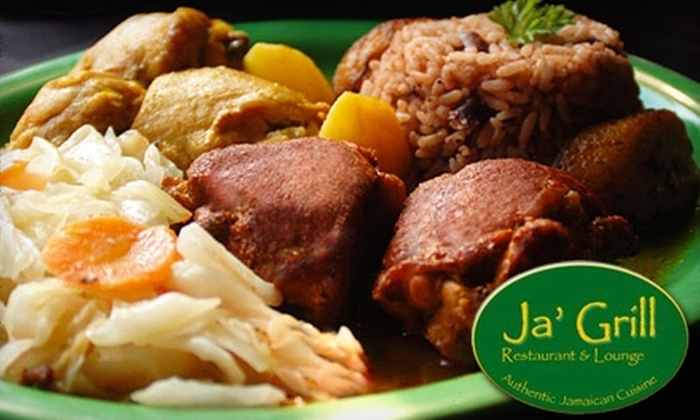 Ja' Grill Restaurant & Lounge - DePaul: $20 for $40 Worth of Jamaican Cuisine and Island Cocktails at Ja' Grill Restaurant & Lounge