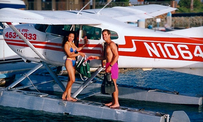 San Diego Seaplanes - Kearny Mesa: 30-Minute Whale-Watching Flight With Beverage for Two or Four from San Diego Seaplanes (Up to 55% Off)