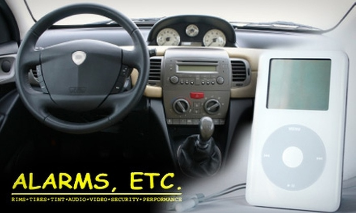 Alarms, ETC.  - Multiple Locations: $60 for Installation of iPod Stereo Integration from Alarms, ETC. ($128 Value)