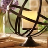 Globe Pillar Candleholder with Flameless Candle