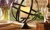 Globe Pillar Candleholder with Flameless Candle: Globe Pillar Candleholder with Flameless Candle