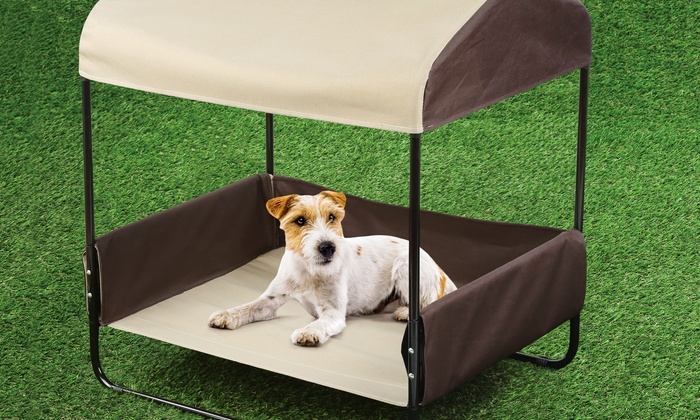 Superior Portable Pet Bed With Canopy For Shade: Portable Pet Bed With Canopy For  Shade ...