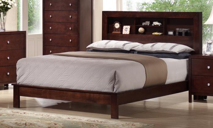 Montana Queen Platform Bed With Storage Headboard