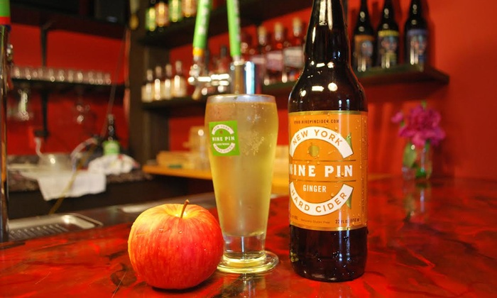 Nine Pin Cider - Albany: Four-Style Hard Cider Flights Plus Souvenir Tasting Glasses for Two or Four at Nine Pin Cider (Up to 48% Off)