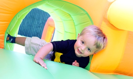 6 or 12 Kids' Open-Play Sessions at Pump It Up (Up to 58% Off)