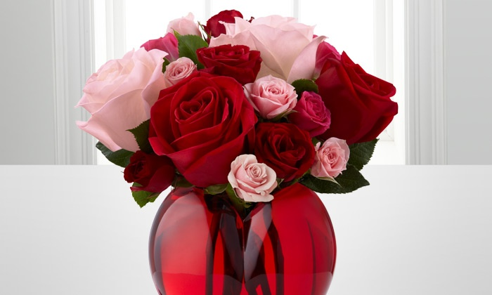 FTD.com: Valentine's Day Bouquet and Vase from FTD.com. Shipping or Service Fee Included.