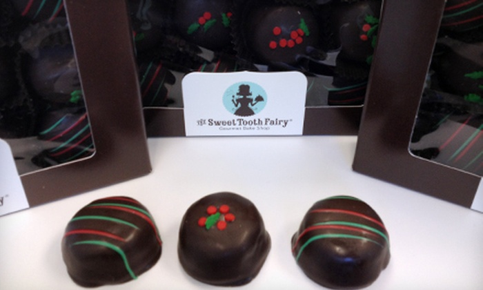 The Sweet Tooth Fairy - Multiple Locations: $15 for Three Dozen Double-Fudge Holiday Cakebites at The Sweet Tooth Fairy ($36 Value)
